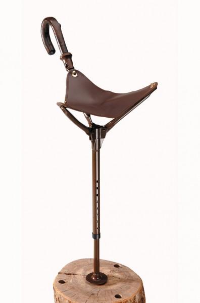 Verstellbarer Sitzstock mit großer Sitzfläche